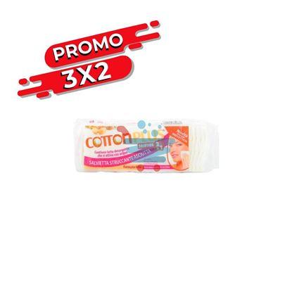 PROMO 3X2 COTTON PLUS SALVIETTE STRUCCANTE 2IN1 ARGAN 60PZ