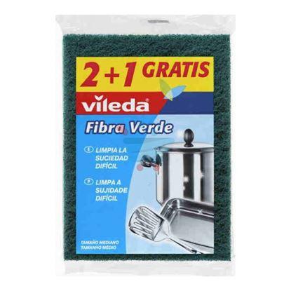 VILEDA FIBRA VERDE 3 PEZZI